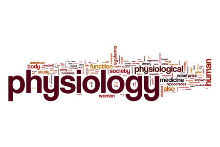 physiology: Physiology word cloud Stock Photo