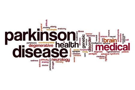 Parkinson disease word cloud