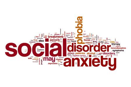 desorden: La ansiedad social trastorno palabra nube