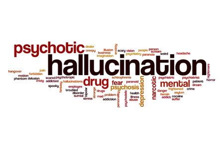 hallucination: Hallucination word cloud