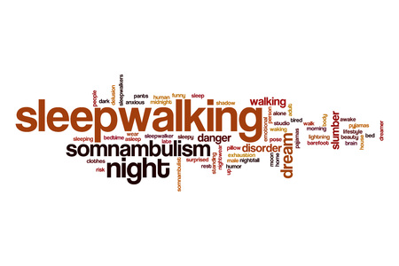 somnambulism: Sleepwalking word cloud