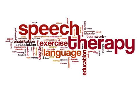 Discurso palabra terapia nube Foto de archivo