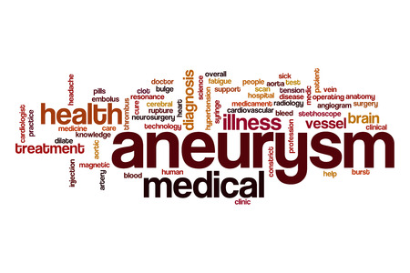 aortic: Aneurysm word cloud Stock Photo