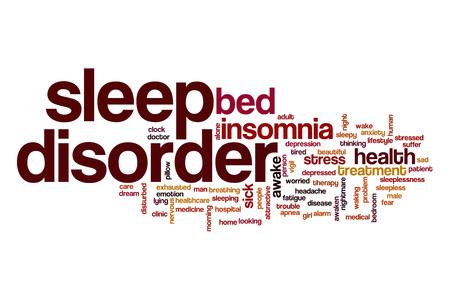 sleep disorder: Sleep disorder word cloud