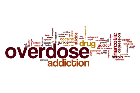 Overdose word cloud Stock Photo