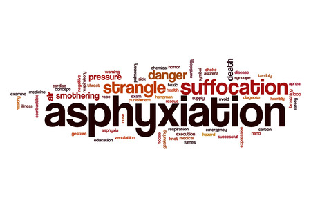 suffocation: Asphyxiation word cloud