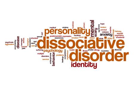 Dissociative disorder word cloud Stock Photo