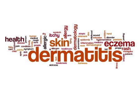 dermatitis: Dermatitis word cloud Stock Photo