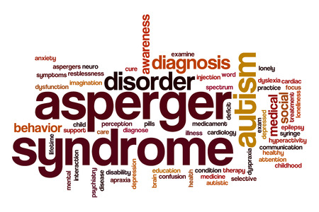 asperger: Asperger syndrome word cloud Stock Photo