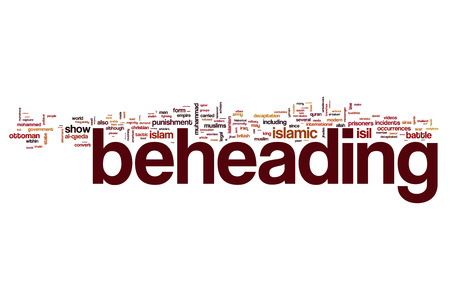 beheading: Beheading word cloud Stock Photo