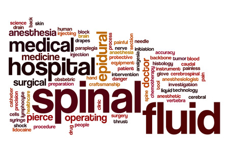 spinal: Spinal fluid word cloud