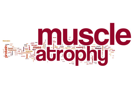 Muscle atrophy word cloud Stock Photo