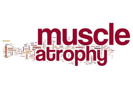 Muscular atrofia palabra nube Foto de archivo