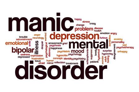 manic: Manic disorder word cloud