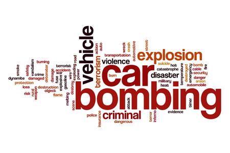 bombing: Car bombing word cloud