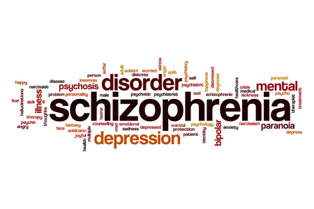 paranoid: Schizophrenia word cloud