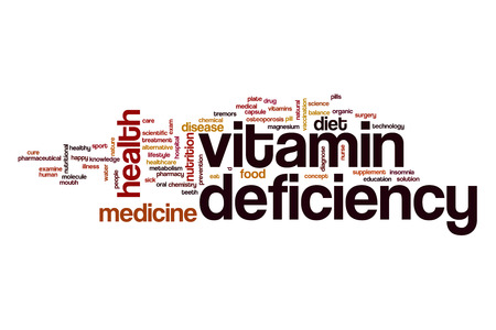 deficiency: Vitamin deficiency word cloud