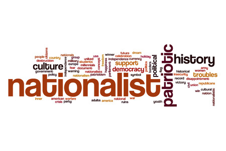 nationalist: Nationalist word cloud Stock Photo