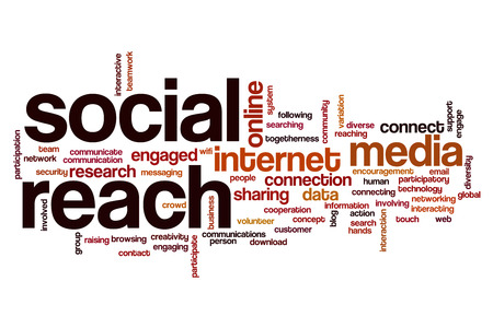 reach: Social reach word cloud