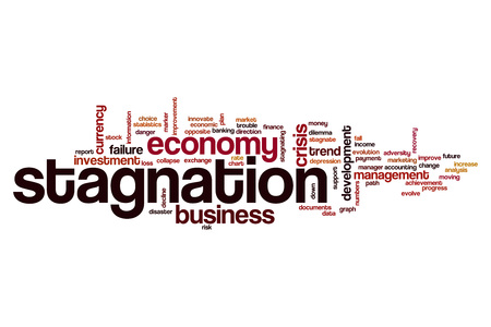 Stagnation word cloud