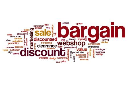 bargain: Bargain word cloud Stock Photo