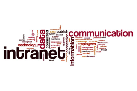 intranet: Intranet word cloud Stock Photo