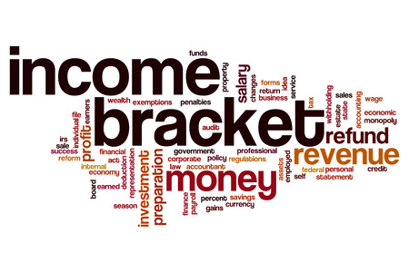 tax bracket: Income bracket word cloud