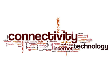 connectivity: Connectivity word cloud Stock Photo
