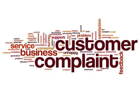 Customer complaint word cloud Stock Photo