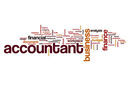 Accountant word cloud Stock Photo