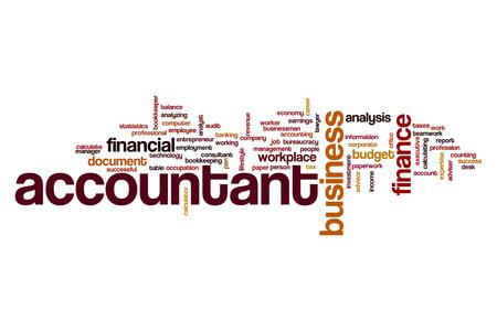 account executive: Accountant word cloud Stock Photo