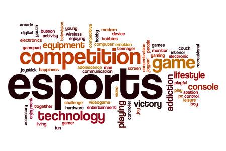 Esports word cloud