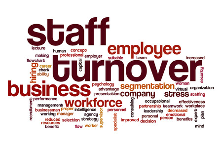 Staff turnover word cloud