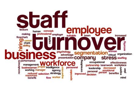 decreased: Staff turnover word cloud Stock Photo