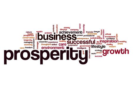 prosperidad: La prosperidad nube de palabras