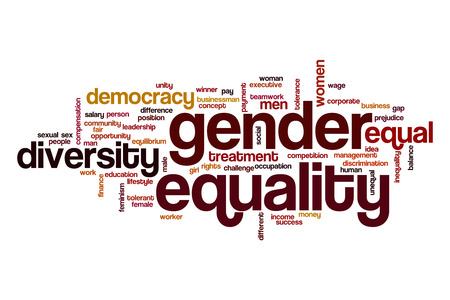 challenging sex: Gender equality word cloud