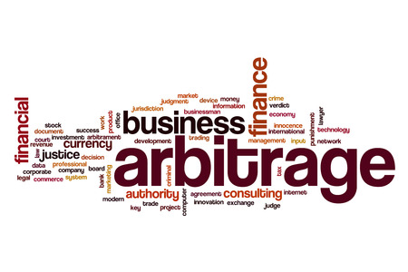 information technology law: Arbitrage word cloud concept