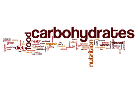 carbohydrates: Carbohydrates word cloud concept
