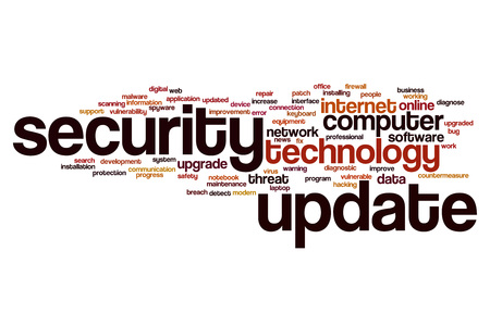 Security update word cloud concept