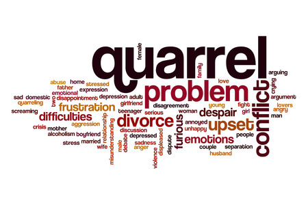 quarrel: Quarrel word cloud concept