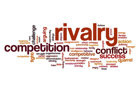 sibling rivalry: Rivalry word cloud concept
