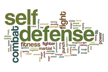 自己防衛の単語の雲の概念