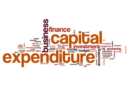 expenditure: Capital expenditure word cloud concept Stock Photo