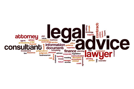 Legal advice word cloud concept Stock Photo