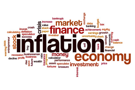 Inflation word cloud concept 스톡 콘텐츠