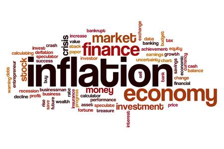 Inflation word cloud concept Foto de archivo