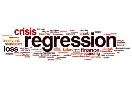 regression: Regression word cloud concept