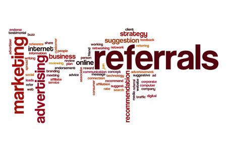 affiliation: Referrals word cloud concept