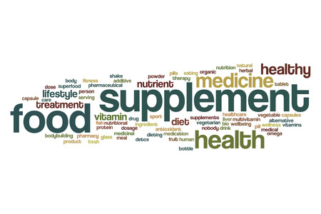 food supplement: Food supplement word cloud concept