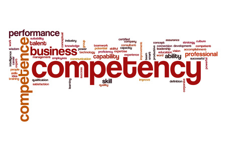 Competency word cloud concept
